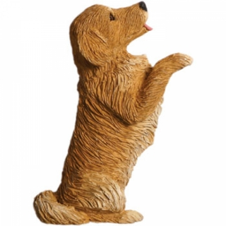 Golden Retriever Figur als Magnet