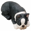 Boston Terrier Figur, schlafend