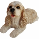 Cocker Spaniel Figur, buff, liegend