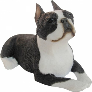 Boston Terrier Figur, liegend