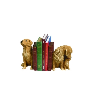 Golden Retriever Figuren Buchstützen Set